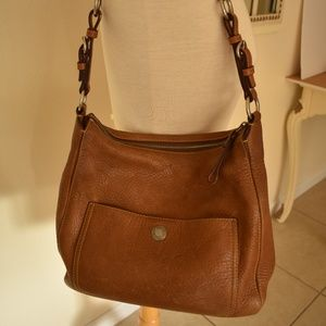Coach Chelsea 8E98 Saddle Brown Leather Bag